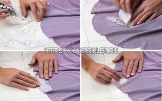 Как приклеить стразы на ткань