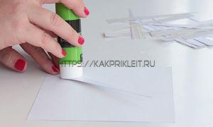 Чем приклеить бумагу
