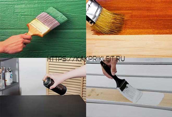Применение масляной краски