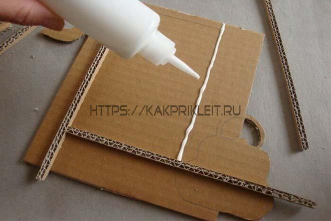 Как клеить картон