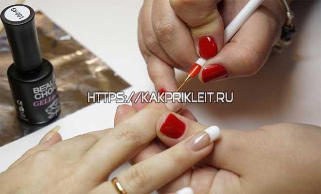 Обработка ногтей лаком после наращивания